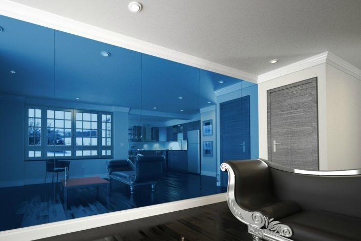 Blue Custom Mirror
