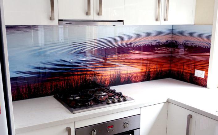 Glass backsplash Prints on Glass
