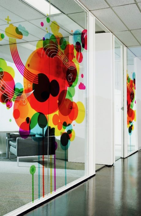 Print on office glass partition New York New Jersey Nyc nj New York upstate Long Island Brooklyn queens Manhattan bronx