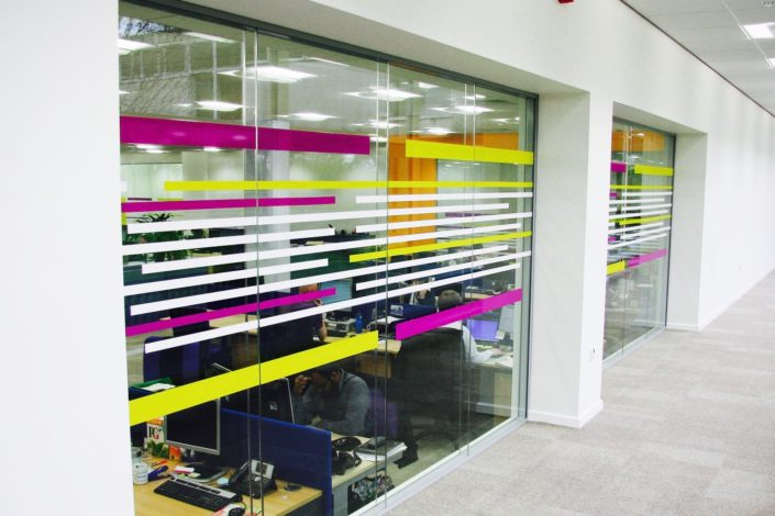 Printed glass partition Office Glass Walls