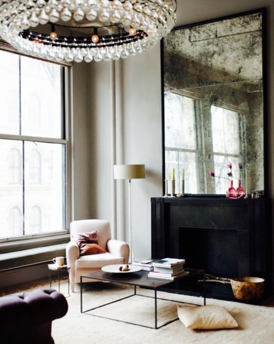 antique mirror in the home