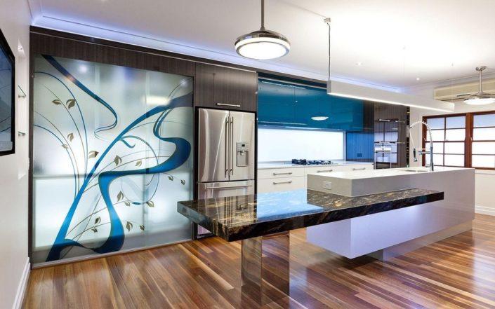 backsplash for kitchen glass partitions