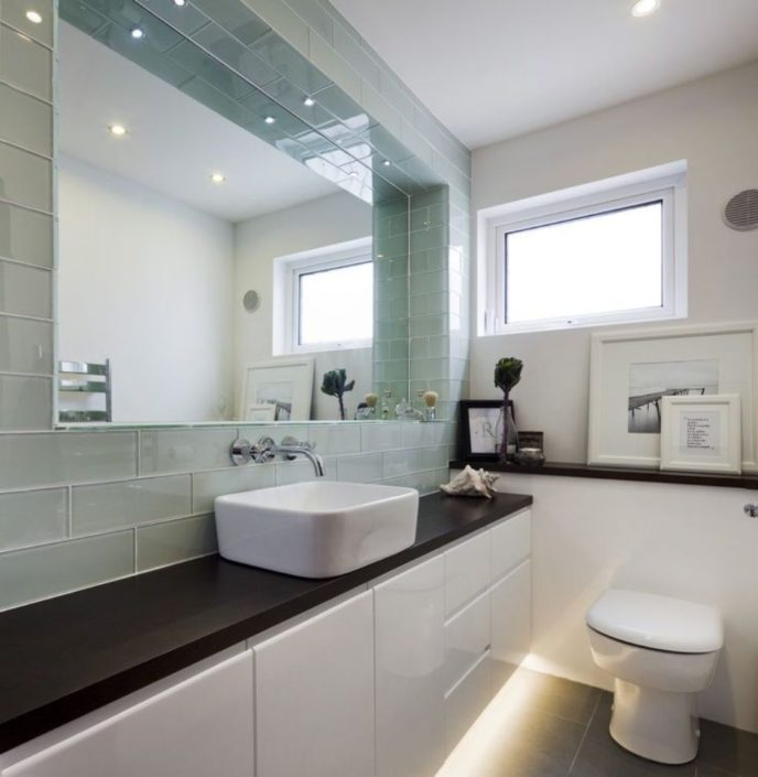bathroom shocking decorating-ideas using rectangular white sinks and rectangular mirrors also with white toilets and strips light heavenly images of white bathroom cabin mirrors