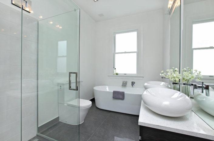bathroom Shower door and mirror