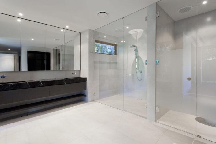 steam frameless shower door bathroom mirrors
