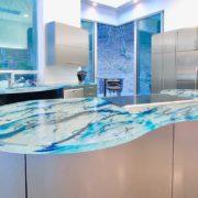 glass countertop kitchen