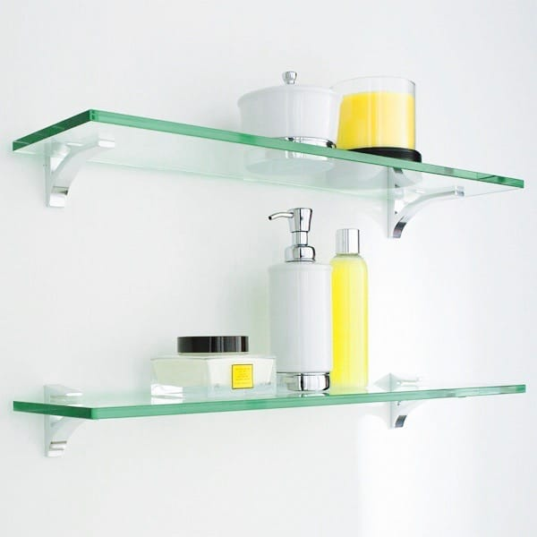 glass shelves bathroom new york