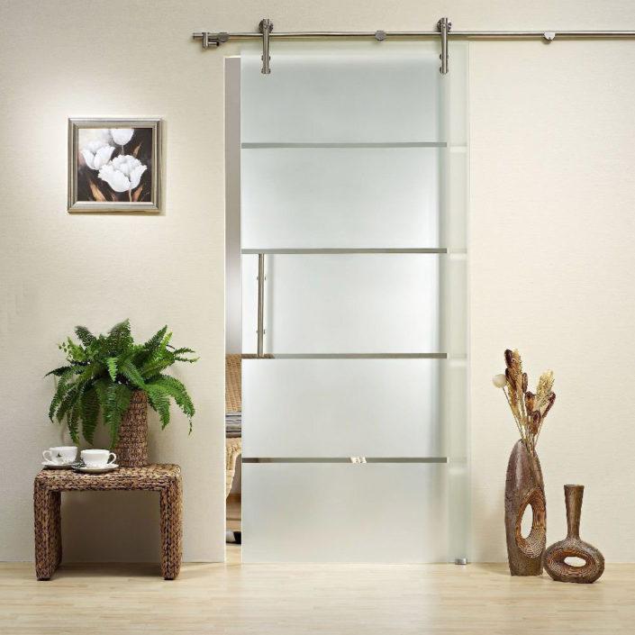 glass stainless sliding door