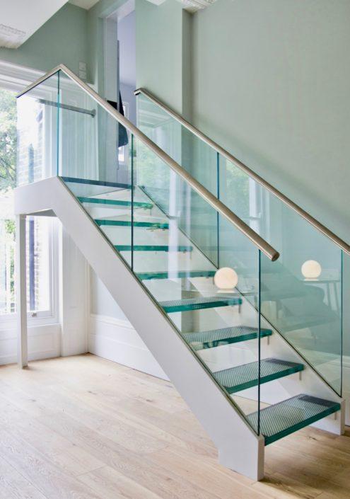 Glass stair case Manhattan New York New Jersey