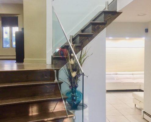 glass stair railing long island