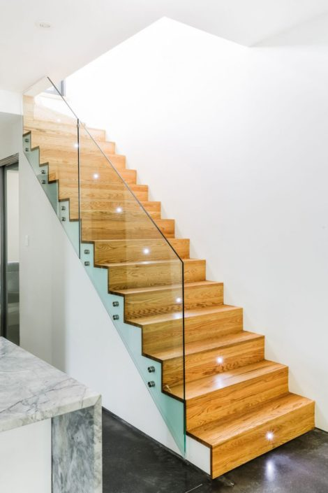 glass stair railing new york new jersey Long Island