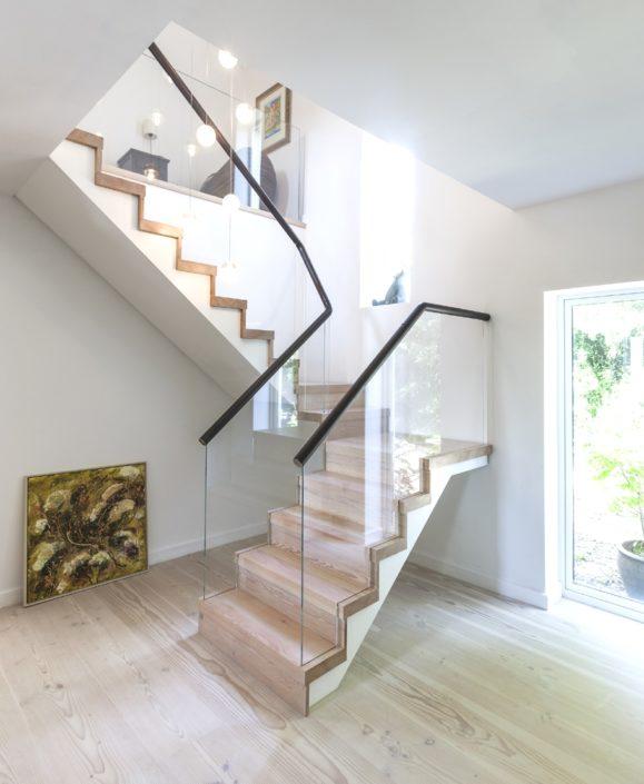 glass stair railing stair case