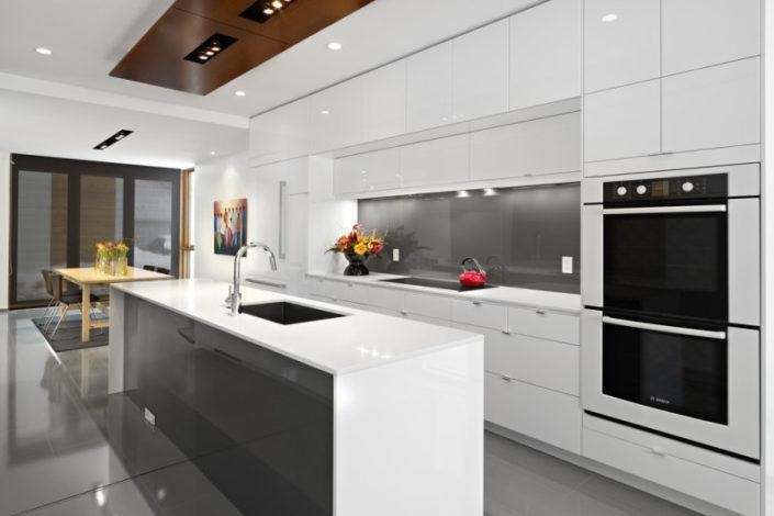 Gray Glass Backsplash For Kitchen
