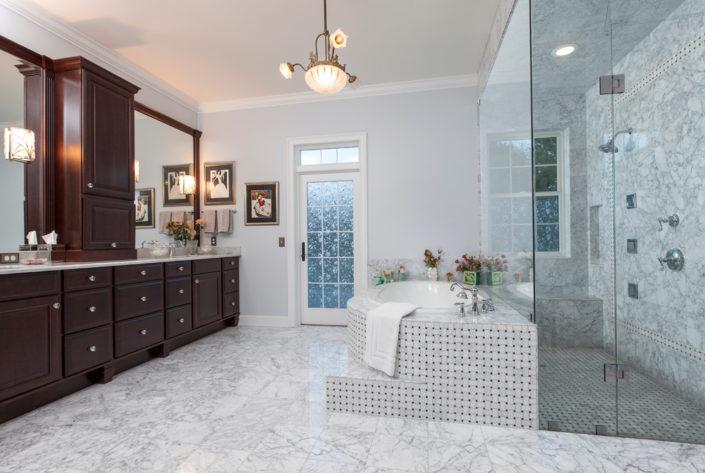 marble bathroom bathroom traditional with marble floor-marble bathroom frameless shower door