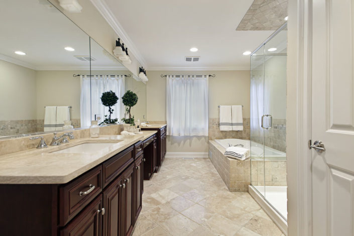 mirror in bathroom shower door