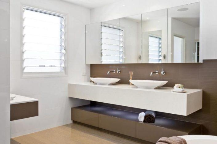 mirror modern floating ensuite vanity