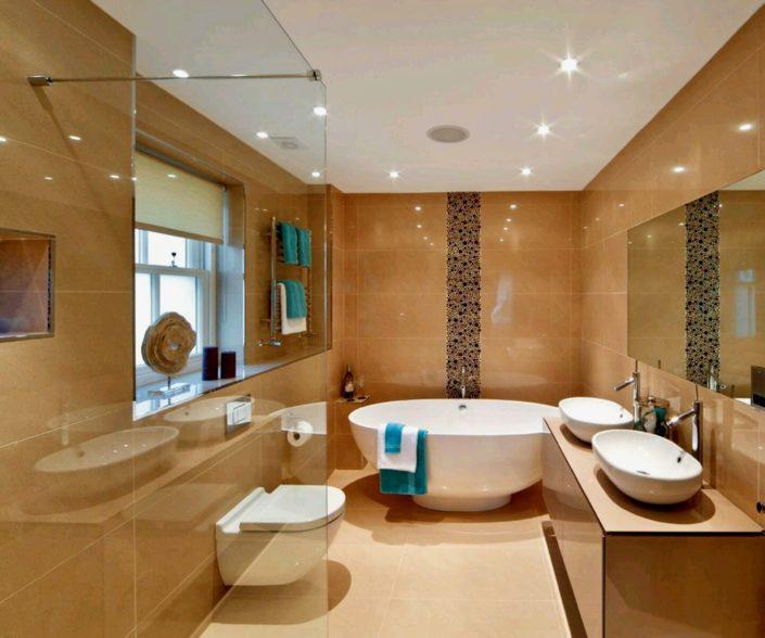 modern bathroom shower door