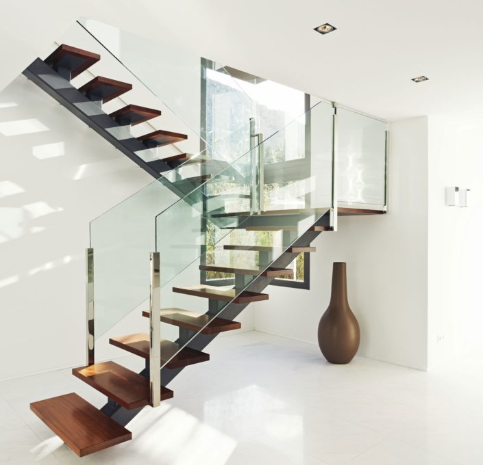 modern staircase design interior images glass staircase design