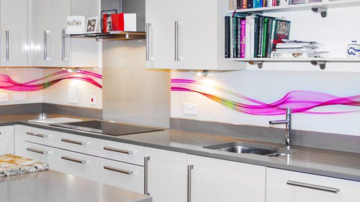 Printed Glass Backsplash For Kitchen